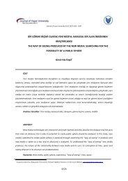 4526 bir görme biçimi olarak yeni medya - Yaşar Üniversitesi | Journal