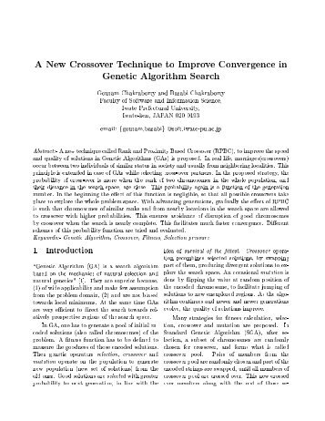 A New Crossover Technique to Improve Convergence in ... - Wseas.us