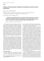 Note Isolation and Characterization of Peptides with Antioxidant ...