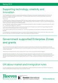 Spring 2012 – Why the UK is the best place for your business - Reeves - Page 3
