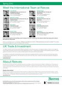 Spring 2012 – Why the UK is the best place for your business - Reeves - Page 4