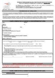 demande d'aménagement des conditions de passation d'examen ...