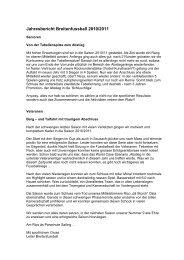 Jahresbericht Breitenfussball 2010/2011 - FC Wiesendangen