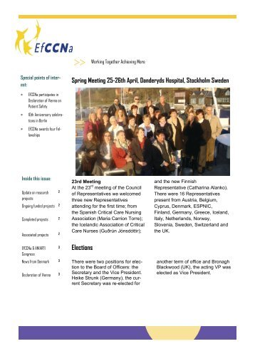Newsletter 1 2009.pdf - European Federation of Critical Care ...