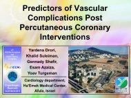 Predictors of vascular complications post percutaneous coronary ...