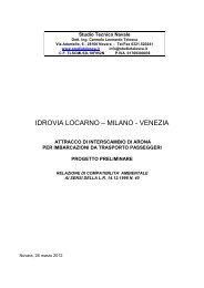 Relazione per la fase di verifica - VIA