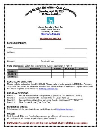 event approval form - Islamic Society of East Bay