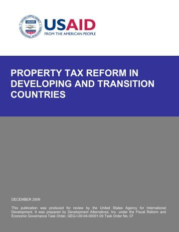 Property Tax Reform in Developing and Transition Countries
