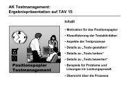 Präsentation des AK auf der TAV 15 (PDF-Format) - CC GmbH