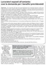 Lavoratori esposti all'amianto: così la domanda per i ... - UIL Basilicata