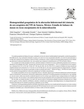 Izaguirre PROOF.pdf - Boletín de la Sociedad Geológica Mexicana