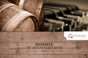 REPORTE DE SOSTENIBILIDAD - Via Wines
