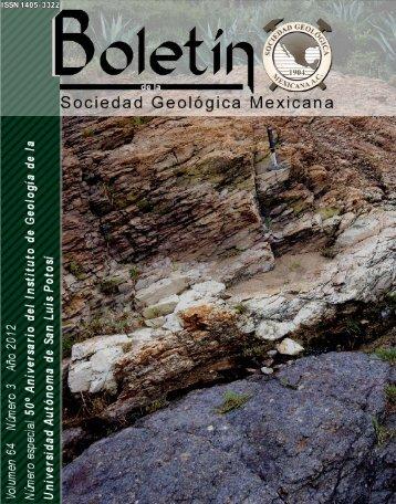 Portada forros, índice/Frontcover - Boletín de la Sociedad Geológica ...