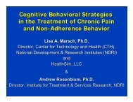 Cognitive-Behavioral Strategies for Non-Adherence Behavior