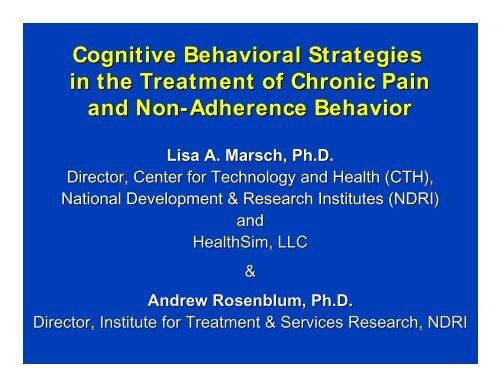 Cognitive-Behavioral Strategies for Non-Adherence Behavior