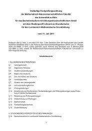 Bachelor: Grundschule Lernbereich Mathematik - Seminar für ...