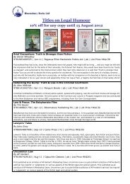 10% off for any copy until 15 August - Bloomsbury Books Ltd