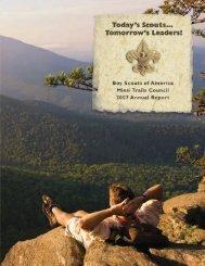 07BSA annual report - Minsi Trails