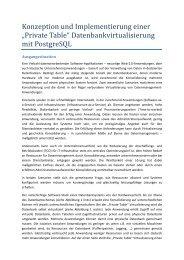 """""""Private Table"""" Datenbankvirtualisierung mit ... - Datenbanken"""