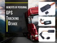 Benefits of Personal GPS Tracking Device