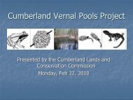 Cumberland Vernal Pools Project - Town of Cumberland