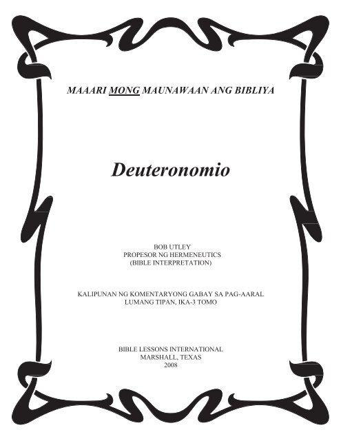 Deuteronomio - Free Bible Commentary