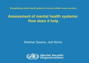 Assessment of mental health systems - Cittadinanza