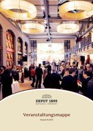 Veranstaltungsmappe Netto-Preise (PDF) - Depot 1899
