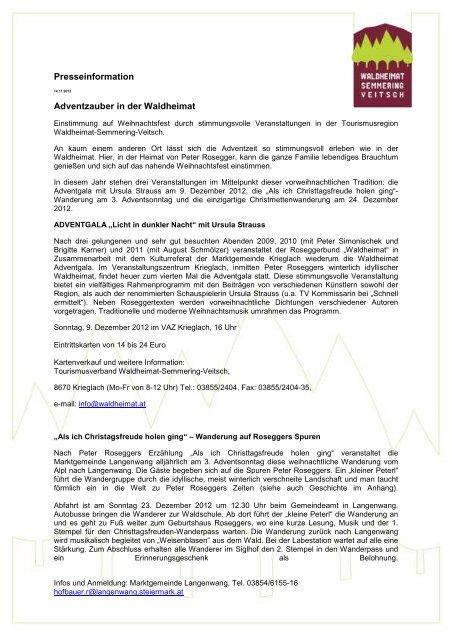 Adventzauber in der Waldheimat - Waldheimat Semmering Veitsch