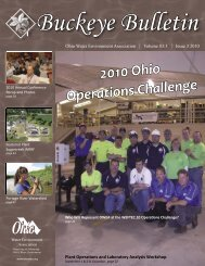 Issue 3 - August 2010 - Ohio Water Environment Association