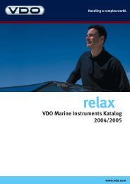 VDO Marine Instruments Katalog 2004/2005