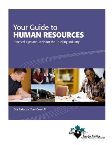 Contents - Canadian Trucking Human Resources Council