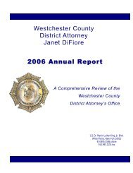 2006 Annual Report - Westchester County District Attorney