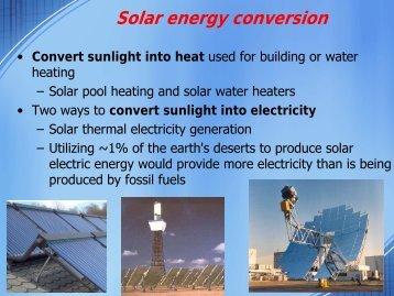 Convert Sunlight Into Heat