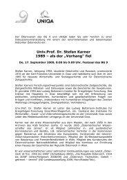 """Univ.Prof. Dr. Stefan Karner 1989 – als der """"Vorhang"""" fiel"""