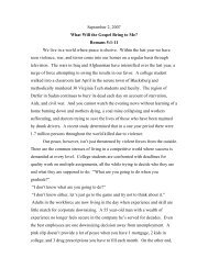 September 2, 2007 What Will the Gospel Bring to Me? Romans 5:1 ...