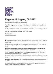 Hent register til årgang 60/2012 som pdf her - Dansk Pædagogisk ...