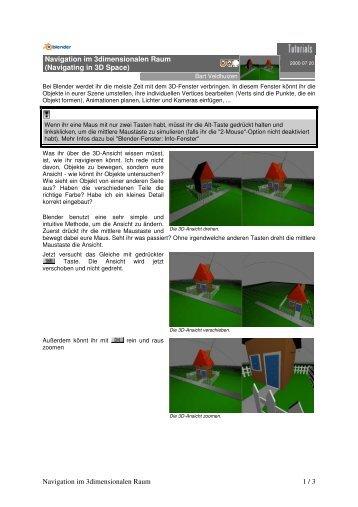 Navigation im 3dimensionalen Raum 1 / 3 ... - psycho 3d home