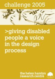 challenge 2005 >giving disabled people a voice in the design process