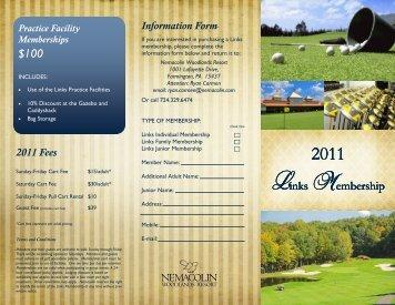 Links Membership Brochure - Nemacolin Woodlands Resort