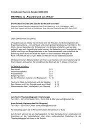 Material Vittual für Schulen - Volkstheater Rostock