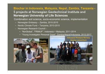 Biochar in Indonesia, Malaysia, Nepal, Zambia, Tanzania - 5 ... - NGI