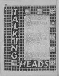 Talking Heads - Trash Fever