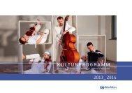 Kulturprogrammheft 2013/2014 - Neues aus der Kultur