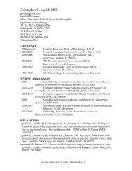 Download CV - Psychology @ IUPUI