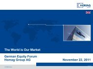 German Equity Forum 11/2011 - HOMAG Group