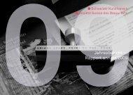 Jahresbericht— Rapport annuel 2009 - Schweizerischer Kunstverein