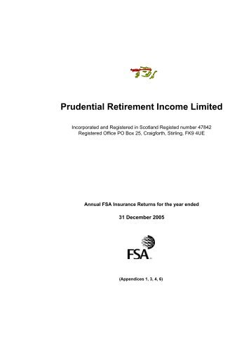 Prudential Retirement Income Limited - Prudential plc
