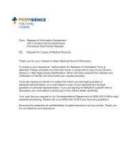 Authorization Form - Providence Washington