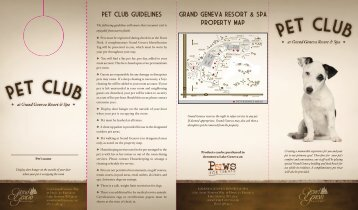 Pet Club Brochure - Grand Geneva Resort
